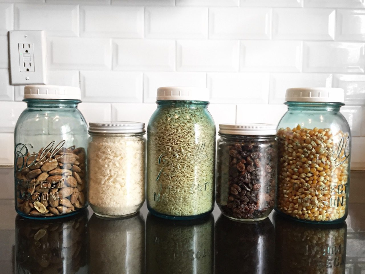 Reusing old jars helps save money and the environment