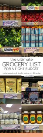 grocery list for a tight budget